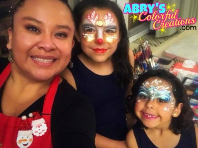 abby_solideo_chicago_face_paint_friends_princess_frozen_reindeer