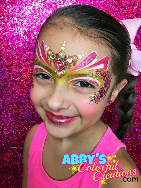 chicago_face_paint_abby_ascencio_valentines_day_princess_glitter_bling_pink