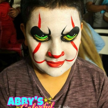 chicago_face_paint_abby_ascencio_clown_it_scary_boy_design_halloween