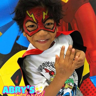 chicago_face_paint_abby_ascencio_flash_boy_design_superhero