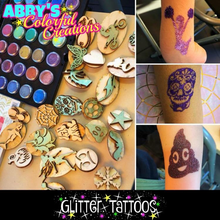 stamp_glitter_chicago_glitter_tattoos_abby_ascencio_cheerleader_sugar_skull_dia_de_los_muertos_emoji_poop_ice_cream