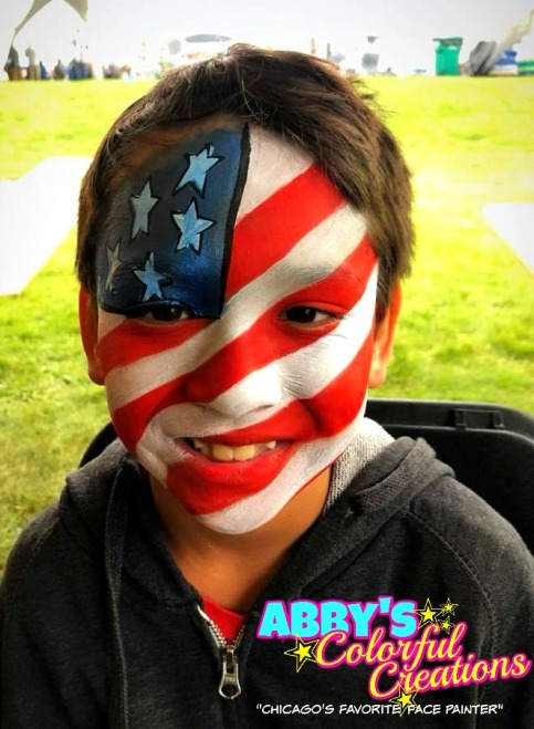 chicago_face_paint_abby_ascencio_solideo_boy_design_full_face_4th_of_july_festive_red_white_blue_flag