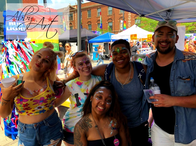 chicago_glitter_bar_buffet_abby_ascencio_party_teens_adults_celebration_shine_gold_pink_pride_parade_fest_2018_bling_gems_group_men_boy_woman
