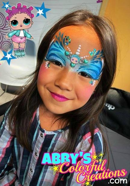 chicago_face_paint_abby_ascencio_lol_dolls_girl_design_glitter_blue_princess_