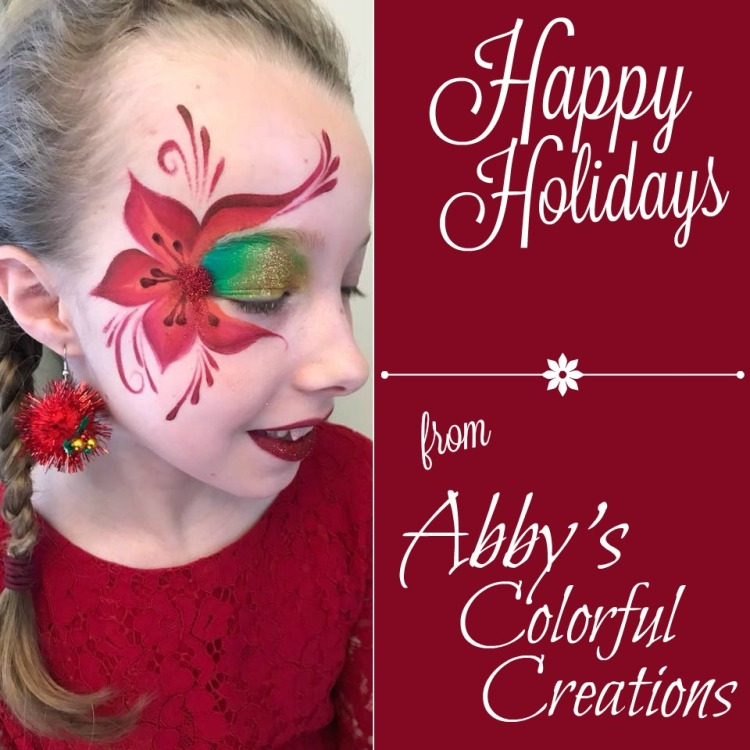 chicago_face_paint_red_flower_christmas