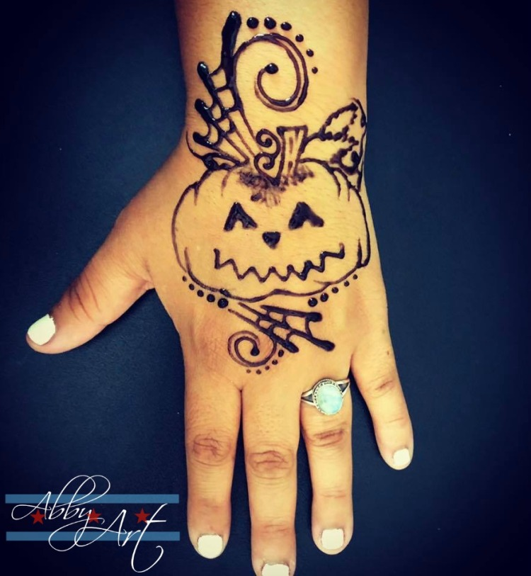 chicago_henna_artist_abby_ascencio_tattoos_jaguar_halloween_pumpkin_kids_adults