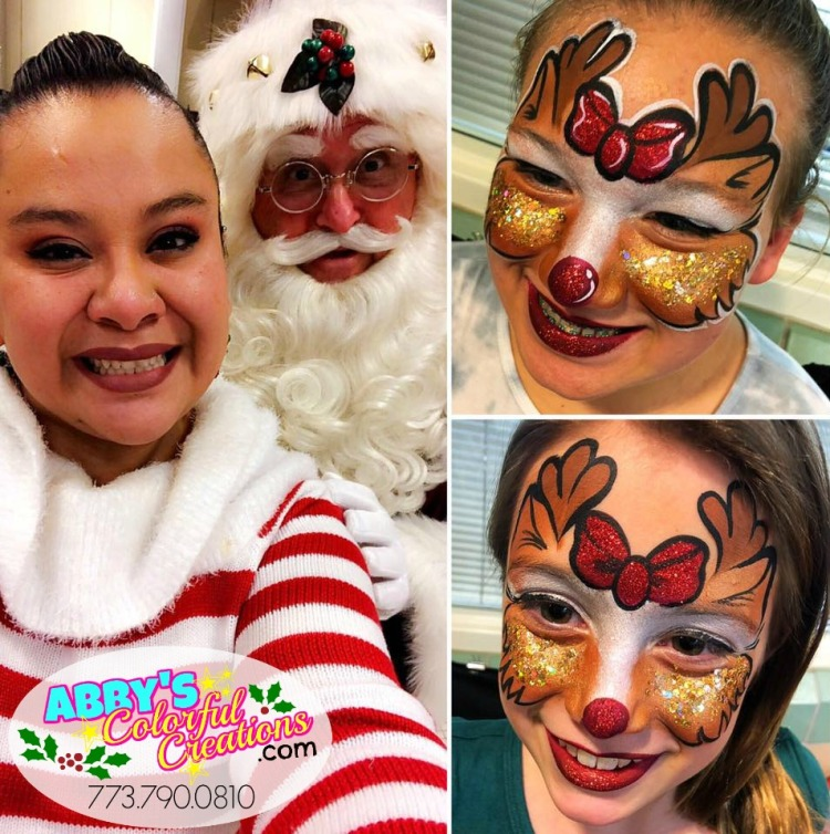 chicago_face_paint_painter_abby_ascencio_christmas_holidays_festive_santa_clause_reindeer_glitter_red_nose_rudolf_.jpg