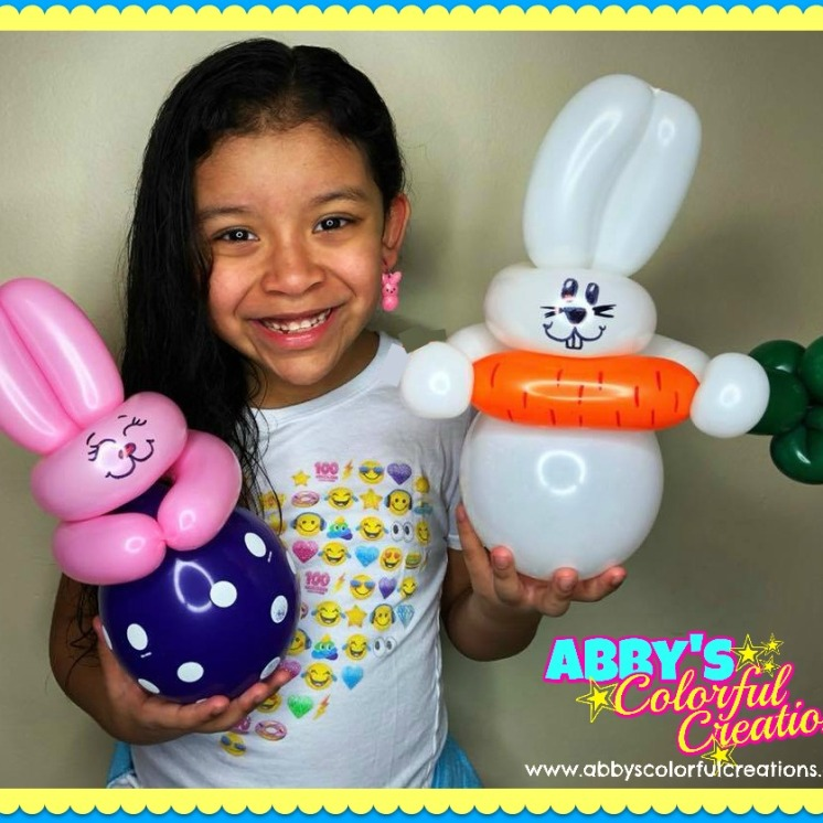 chicago_balloon_twisting_abby_ascencio_bunny_peeps_carrot_easter_wand_pink_rabbit_baby_pink