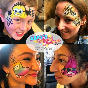 chicago_face_paint_painter_abby_ascencio_boy_girl_design_minions_tiger_eye_glitter_rainbow_lama_unicorn_trolls_